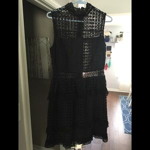 NWT - Leith Black Lace Dress